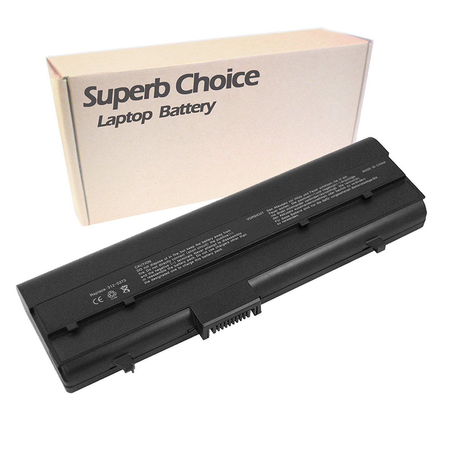 Superb Choice New Laptop Replacement Battery for 9-cell,Dell Inspiron 630M E1405 640M XPS M140 Series Y4493 312-0373 UG679 312-0450 DH074 312-0451 451-10284 451-10285 451-10351 C9551 RC107 TC023 Y9943 series