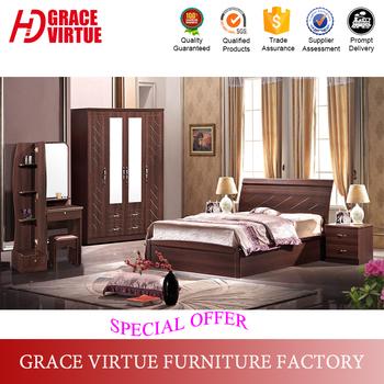 Cheap Modern Simple Design Pvc Membrane Bedroom Set,Mdf Bedroom ...