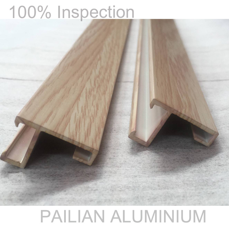 Aluminum profile factory producing high end wood colors aluminium picture frame profiles for decoration