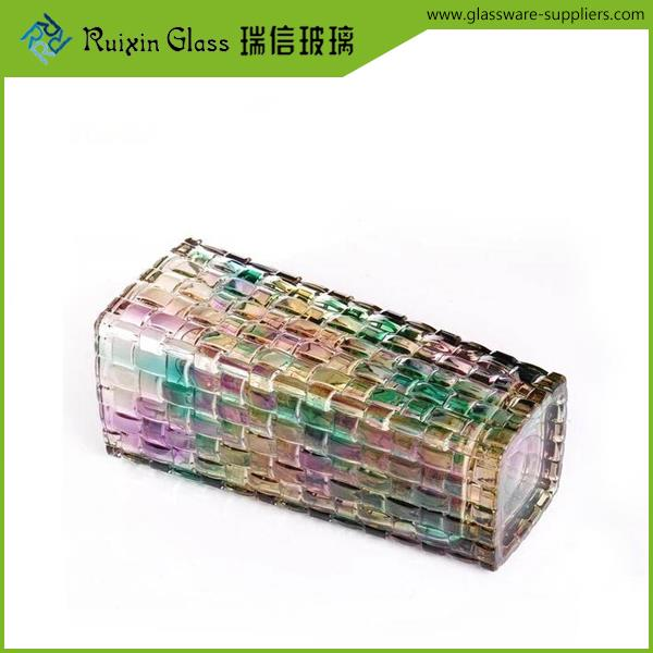 Free sample 24 lead crystal vases bamboo arts series glass vase for sale