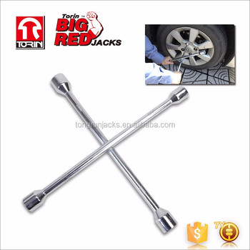 "Tongrun 16"" Chrome Cross Wrench For Car Tire Repair"