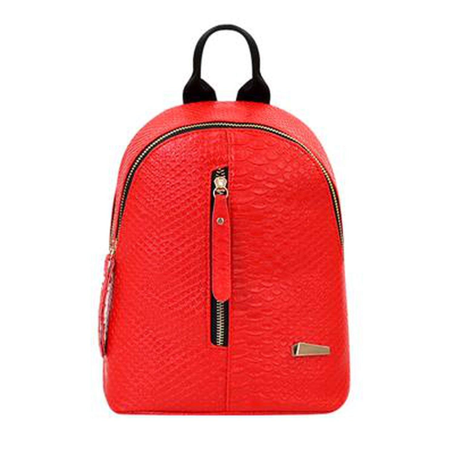 Perfues Women Backpack Pu Leather School Bags For Teenagers Girls Leisure Backpacks Rucksack