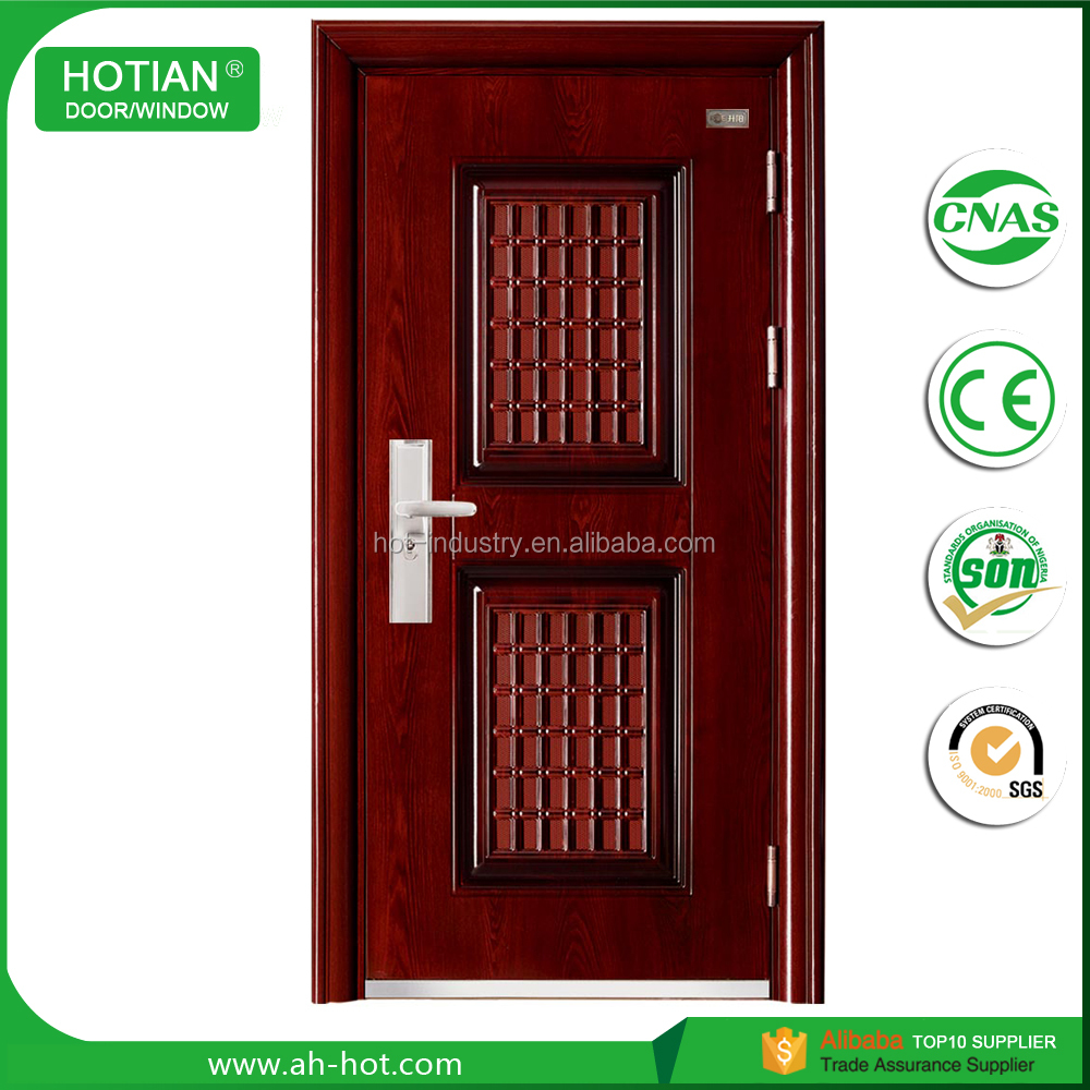 Kerala House Main Front Entry Doors Cheap Metal Iron Single Steel