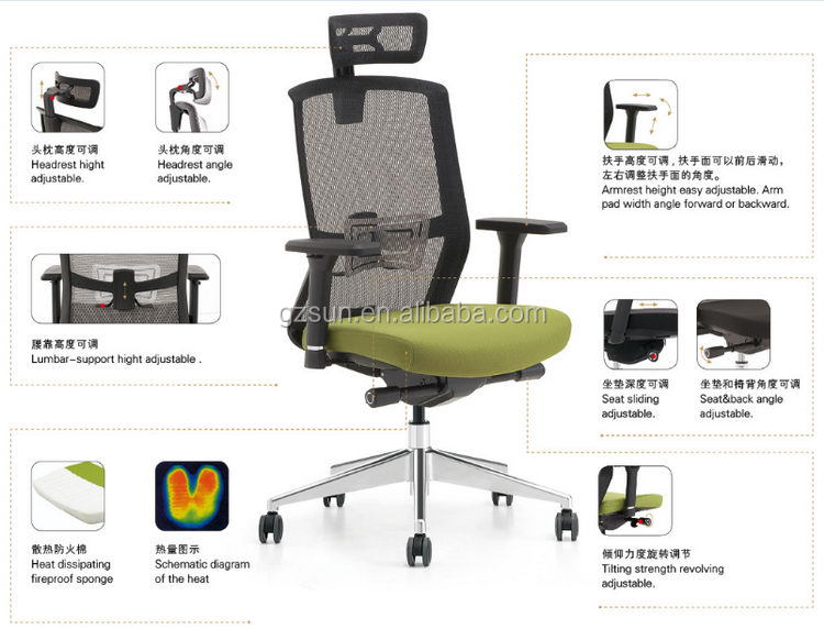 Sunshine Furniture Made In China Widely Use Swivel Office Chair ...