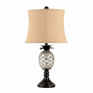 ORB glass pineapple metal and glass table lamp