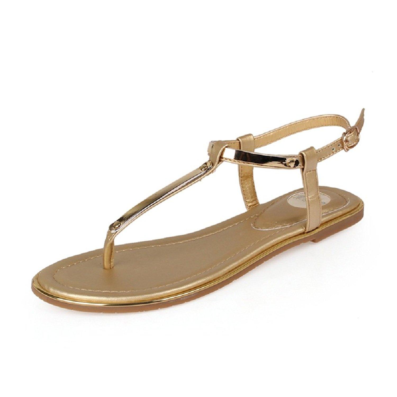 6926387a4819 Get Quotations · Meeshine Women s Adjustable Ankle Strap Slingback Flip  Flops Summer Thong Flat Sandals