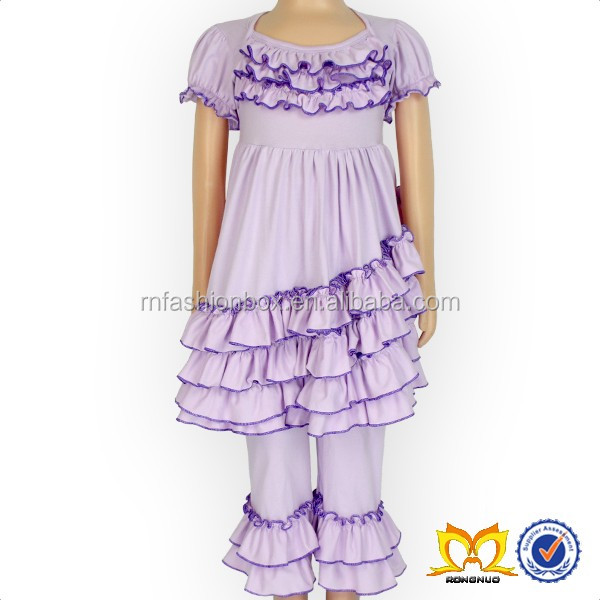 Chic Baby Lavender Ruffle Dress And Pant Girls Ruffle Boutique Outfits Baby Girl Clothes