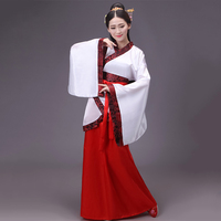 Hanfu Chinese Ancient Robe Tang Dynasty Costume Oriental Dancer Costumes Female Adult Traditional Chinese Clothing DL2856