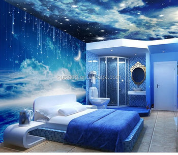 3d Effect Outer Space Wall Mural Wallpapers For Home Decoratiom And
