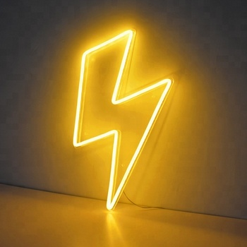 Lightning Bolt Neon Sign With Remote Control Buy
