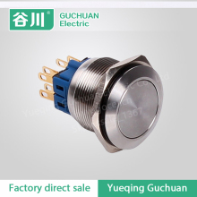 waterproof stainless steel metal button switch reset LED illuminated jog GQ25F-22/N