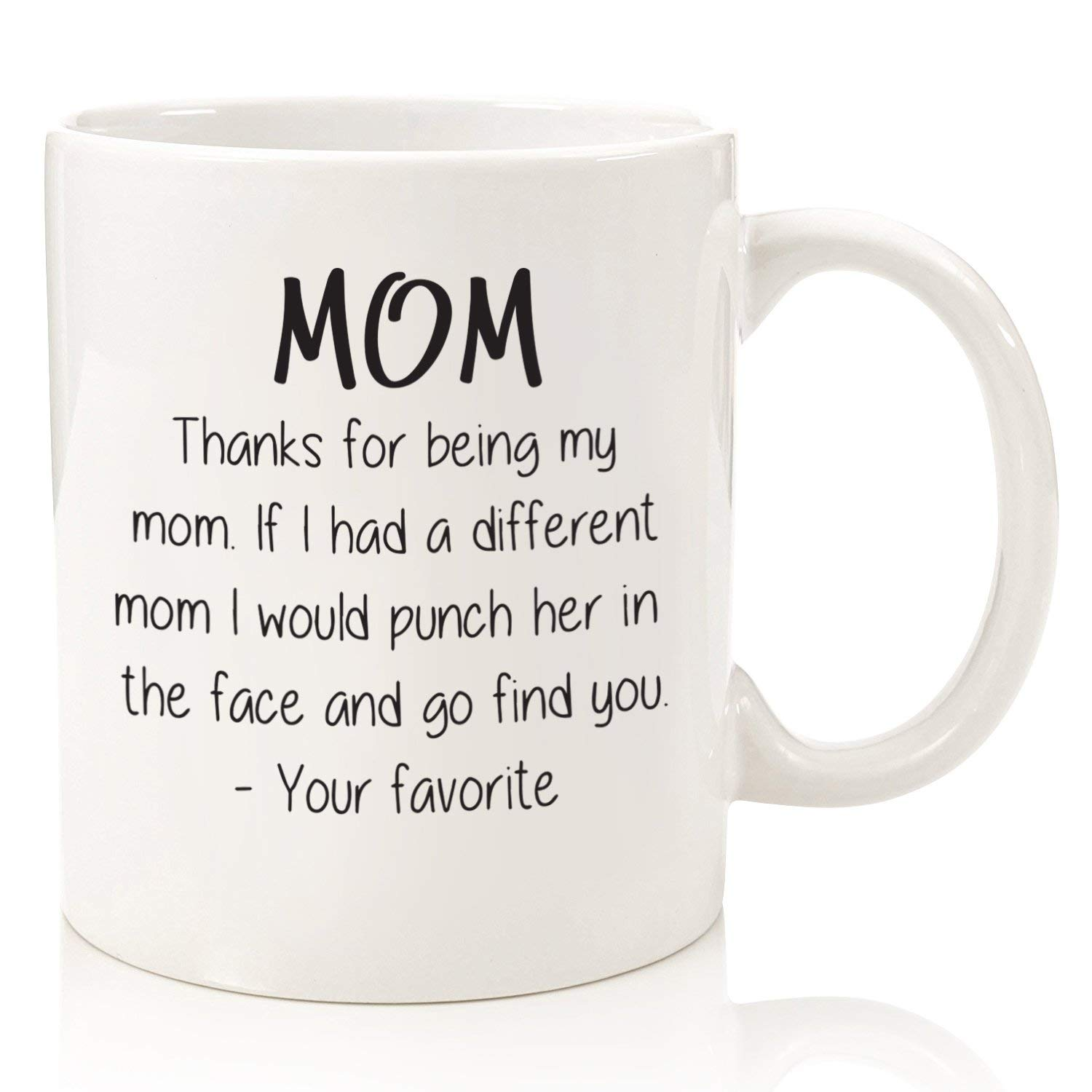 Thanks For Being My Mom Funny Coffee Mug
