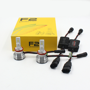 F2 LED headlights 12000lm car suv H1 H3 H4 H7 H8 H9 H10 H11 H16 5202 9005 9006 car LED head light kits h7 H4 led fog headlamp