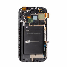Super <span class=keywords><strong>AMOLED</strong></span> LCD Voor Samsung Galaxy Note2 Note 2 N7100 Lcd Touch Screen Digitizer Frame Assembly