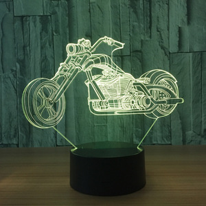 ZOGIFT 2018 New Motorcycle 3D Led With 7 Colors Changing