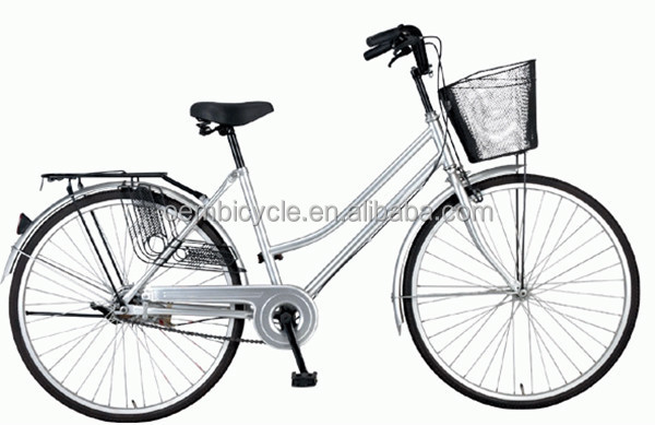 26inch Single Speed Steel With Basket And Back Carrier For