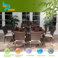 New Wooden Designs Synthetic Teak Outdoor Rattan Furniture Malaysia Factory Produced