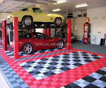 Tanfu mm spessore ad incastro pp plastica garage piastrelle per