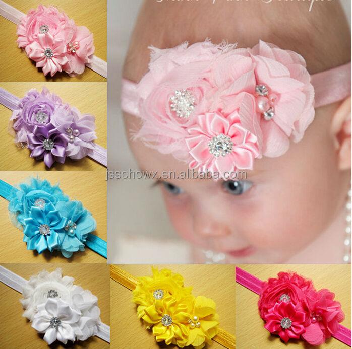 Strass Fleur Crochet Bebe Bandeau Fleur Bandeau Pour Enfants Buy