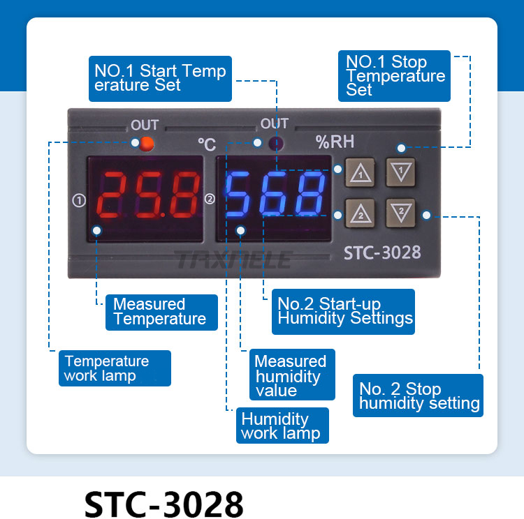 220V Digital Air Humidity Control weather station WH8040 Humidity Measuring Range Is 1%~99% Temperature and humidity control