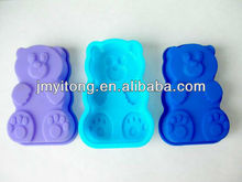 FDA cute cartoon shape silicone cheese cake mould