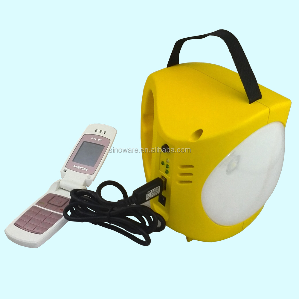Portable super bright led solar lantern with panels & USB phone charger