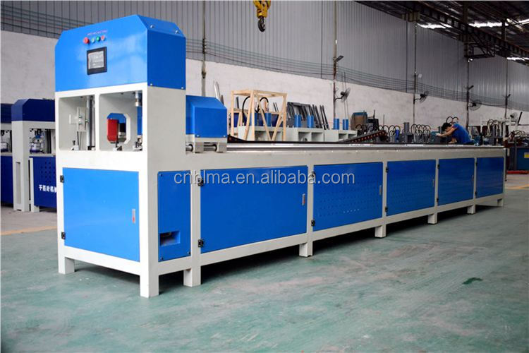 Hole punching and shearing machine for aluminum profile steel pipe