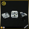 Color play or fire square cut white cubic zirconia for making jewelry