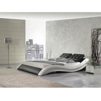 Love Fashionable Queen Black Soft New Design Double Modern Leather Curved Bed