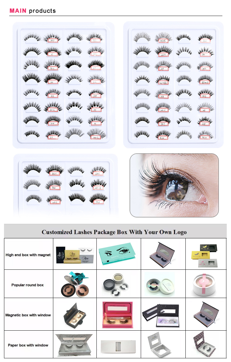 Hot sale private label individual natural mink hair eyelashes new 3d luxury human hair lashes bulk