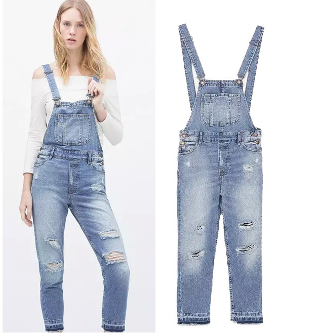 701721b39 Get Quotations · Salopette Women Ladies Stonewash Destroyed Denim Dungarees Jumpsuit  Denim Overalls Casual Skinny Girls Jeans Rompers