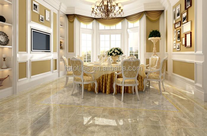 Glazed Cloud Porcelain Tiles Look Like Marble Livingroom Floor And Wall