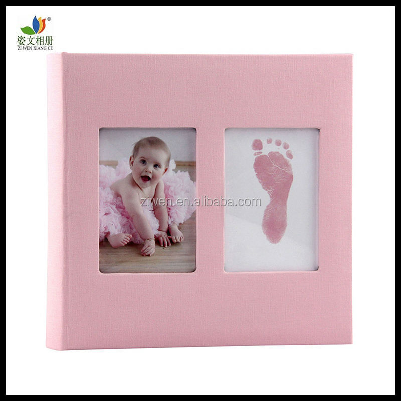 New two window frames cute baby Photo Album for baby/kids girl, best memory gifts