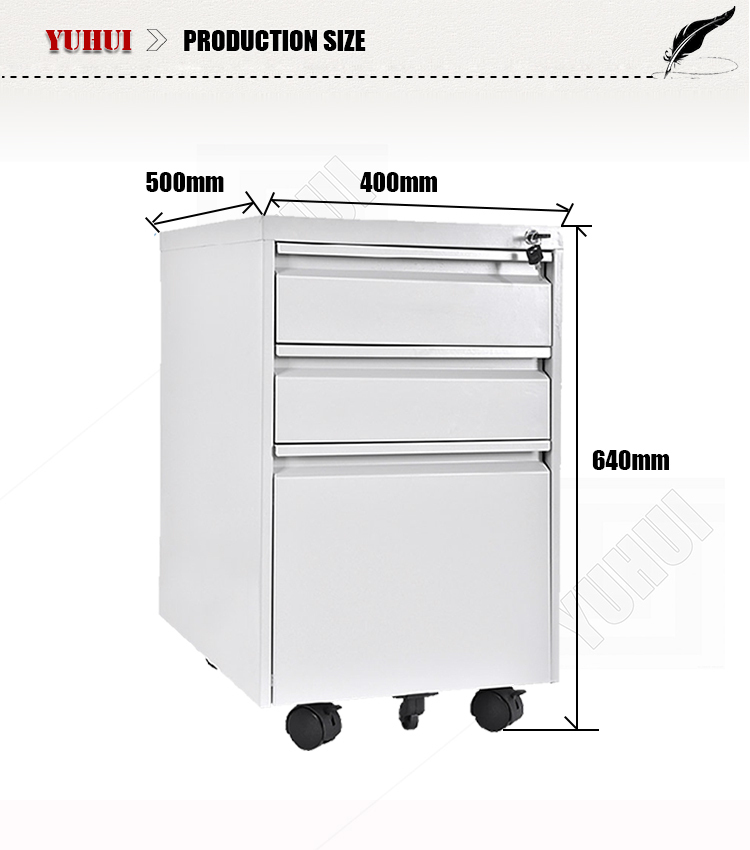 Makro Office Furniture 3 Drawer Mobile Filing Cabinet /drawer ...