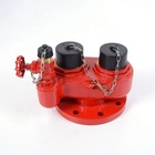 100 mm flange outlet fire hydrant 2 way breeching water inlet valve