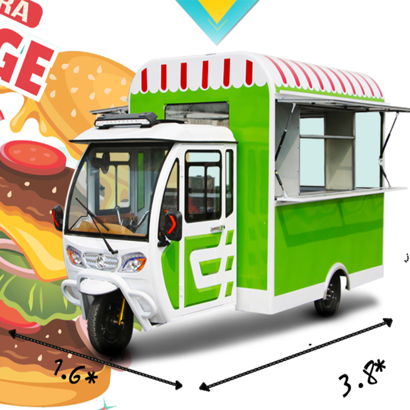 Tricycle Food Truck / Electric Food Truck For Sale Factory