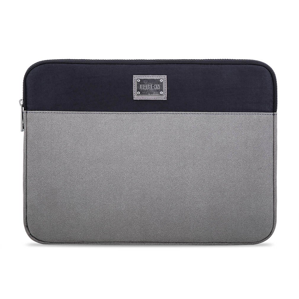 "Caison 11.6"" Suede Laptop Sleeve Case Microsoft 12.3"" Surface Pro 4 / 3 Apple 11 inch MacBook Air (Grey / Black)"