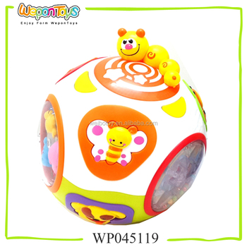 For Baby Above 6 Months Old Toy Ball With Music And Light Rolling Ball Toy Plastic