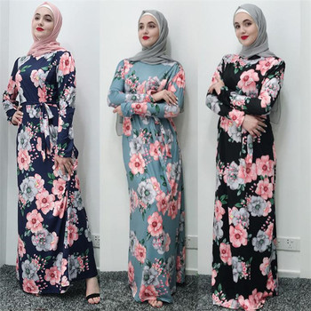 2019 Fashion Long Jersey Fabric Dresses for Women Islamic