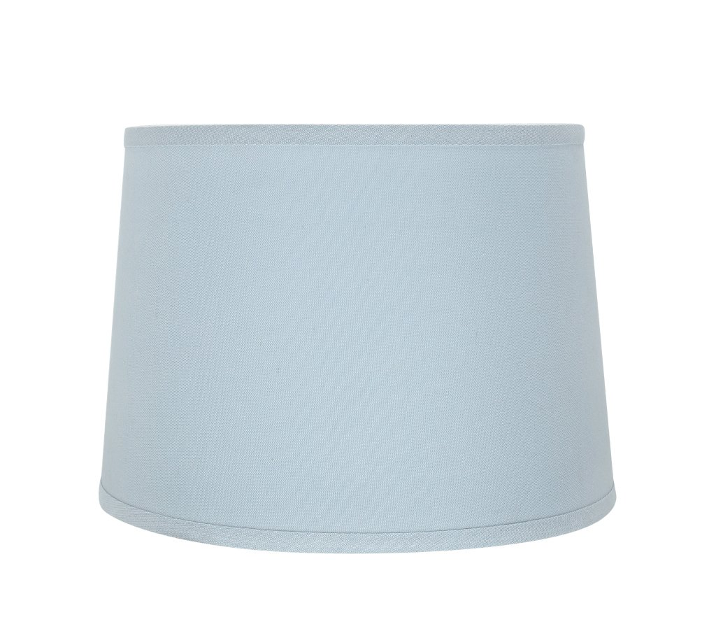 """Aspen Creative 32311 Transitional Hardback Empire Shaped Spider Construction Lamp Shade in Light Blue, 14"""" Wide (12"""" x 14"""" x 10"""")"""