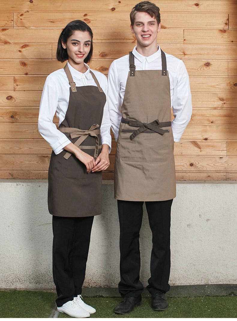 Best-selling unisex apron multi-pocket with do housework aprons restaurant uniform apron