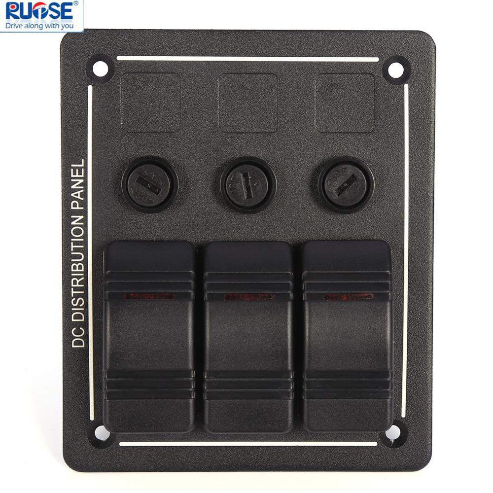 3 gang aluminium led rocker fuse holders waterproof. Black Bedroom Furniture Sets. Home Design Ideas