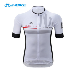 Men white light quick dry short sleeves cycling jersey