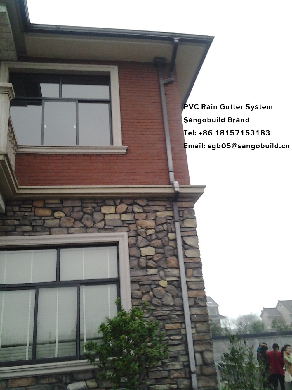 Sgb Pvc Square Tube Rain Gutter Fittings Price Price Of