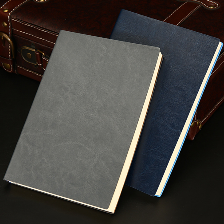 Cheap Wholesale High Quality Paper Notepad Book a5 Custom Size Cheap Black /Colored PU Leather Notebook Printing