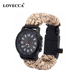 Colorful Paracord watch band bracelet with multifunction accessories