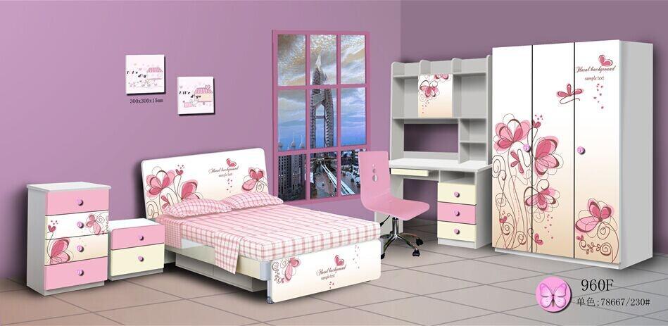 Lujo colorido ni os de dibujos animados juegos de for Dormitorio animado