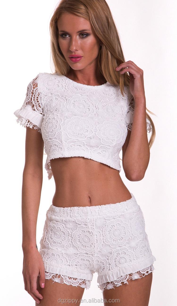 2015 New Arrival White Shorts Women Shorts Crochet Cotton Shorts ...