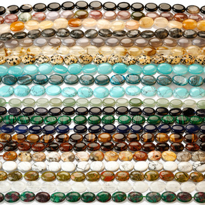 Wholesale Price Various Semi-Precious Gemstone Oval Cab Cabochon Beads Healing Crystal Quartz For Jewelry Making