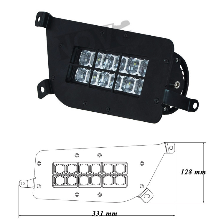 Atv Accessories 5400Lm Head Lights Led 14-16 Polaris Rzr Accessories Supplier